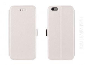 Pouzdro Book Flexi Pocket Sony Xperia M2 D2303 Bílé