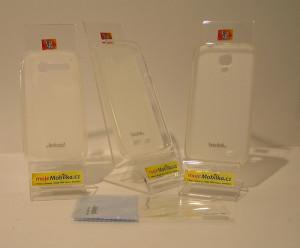 JEKOD TPU Ochranné Pouzdro White pro Nokia XL