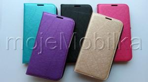 Pouzdro Wallet Velvet Sony Xperia E4 E2105 Fialové