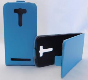 Pouzdro ForCell Slim Flip Flexi Asus ZenFone 2 Laser ZE500KL Světle Modré