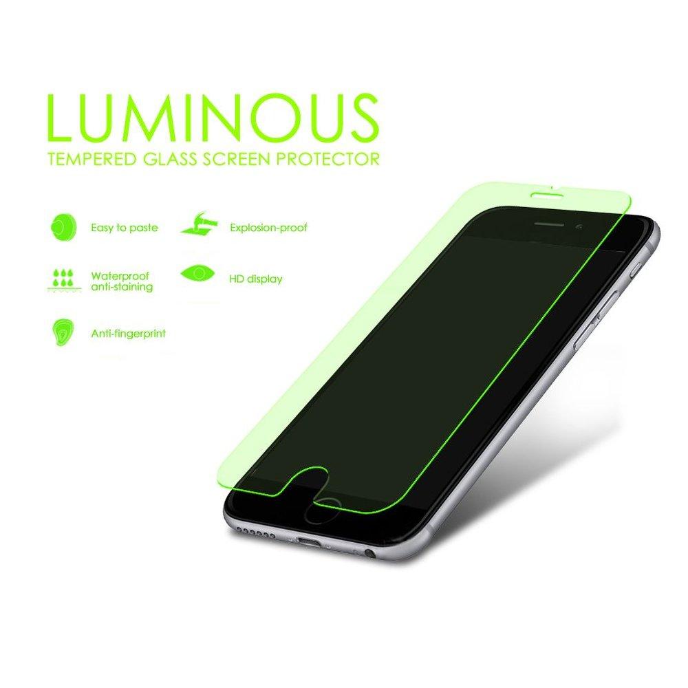 Blue star ochranné tvrzené sklo Luminous pro Iphone 6 4,7 Zelené 5901737253026