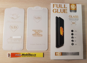 Full Glue 5D tvrdené sklo iPhone X White 21036