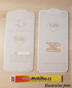Full Glue 5D tvrdené sklo Xiaomi Redmi 6 / Redmi 6A Bílé 23565