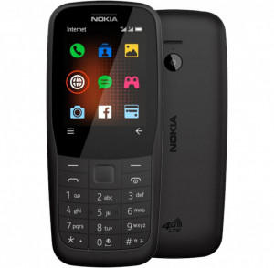 NOKIA 220 4G Black 16QUEB01A02