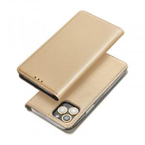 Pouzdro Smart Case Book Motorola E7 Plus Zlaté